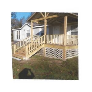 A new deck was the perfect addition to this home.]