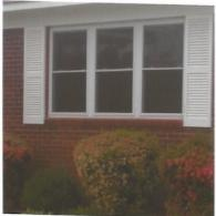 New windows were installed with the frames & shutters