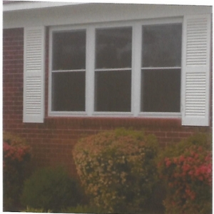 New windows were installed with the frames & shutters]